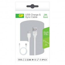 GP CB22 CHARGE & SYNC CABLE MICRO USB 2M ROUND